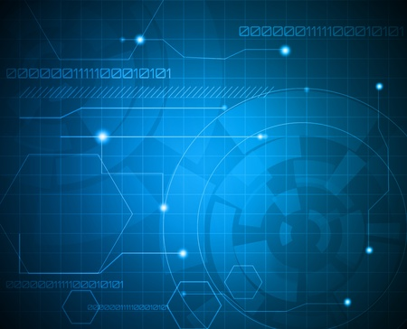 numbers abstract: Fondo azul abstracto de tecnolog�a Vectores