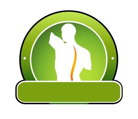 Menselijke wervelkolom illustratie Kan gebruikt worden als een symbool voor problemen met de wervelkolom, chiropractie, massage, oefentherapie, geneeskunde, enz. Vector Illustratie