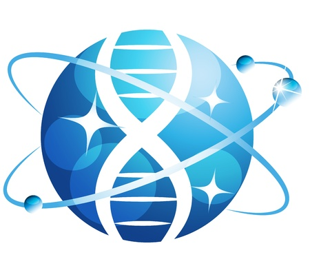 Abstract gene symbol  Can be used as medical, genetic, pharmaceutical, science symbol  Beautiful blue color