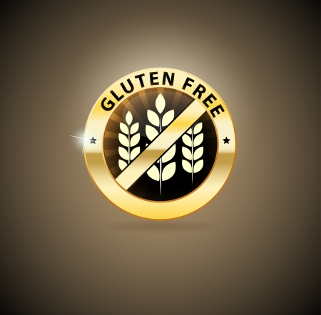 Golden gluten free icon Vector
