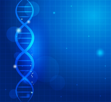 Abstract gene chain background  Can be used as medical, genetic, pharmaceutical, science industries  Beautiful blue color  Vector