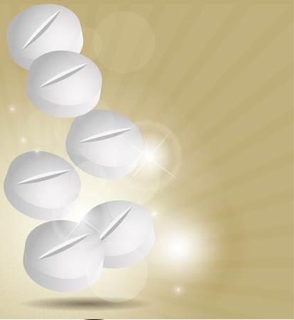 Abstract medical background with pills Stock Vector - 16294726