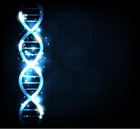 dna chain: Gene chain background