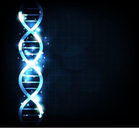 gene: Gene keten achtergrond Stock Illustratie