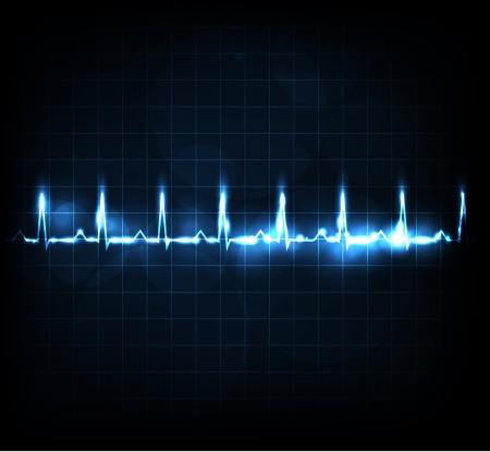 Heart rate monitoring  Beautiful bright design  Illustration