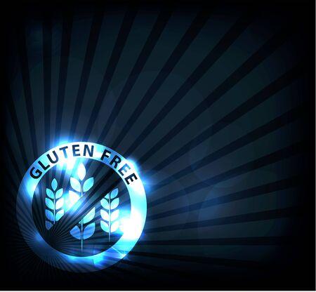 celiac: Gluten free background, beautiful blue sparkling color  Illustration