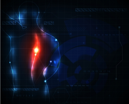 chest pain: Human spine ache abstract background