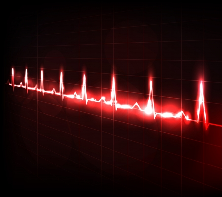 Heart beating monitor  Beautiful bright design