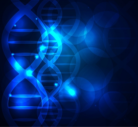 DNA chain abstract blue background Vector
