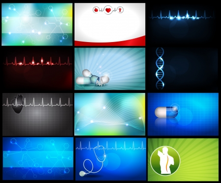 business life line: Medical backgrounds Illustration