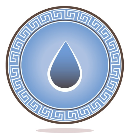 holistic health: Beautiful conceptual drop illustration and round circle with ornament, harmonic colors   Can be used as company identity symbol or icon  Can be used in SPA, health care, medical etc  industries