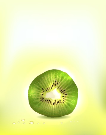 Realistic kiwi fruit background  Bright and clean design  Add Your text if necessary Vector
