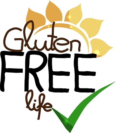 sprue: Gluten free life  Hand drawn unique design  Isolated on a white background