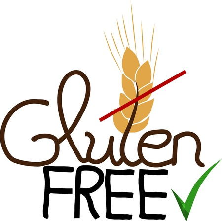 Gluten free design, hand drawn  Isolated on a white background  Vector