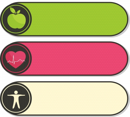 Health care stickers  Vector