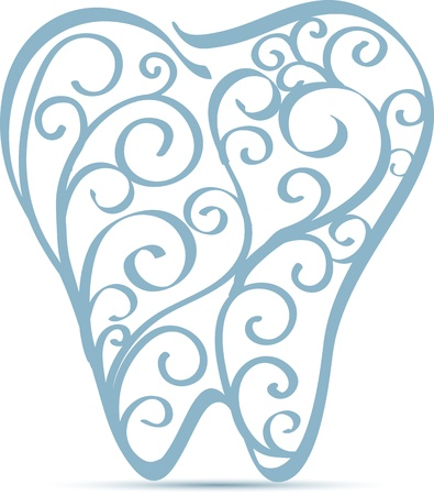 abstract tooth: Abstract tooth design  Beautiful design with swirl elements