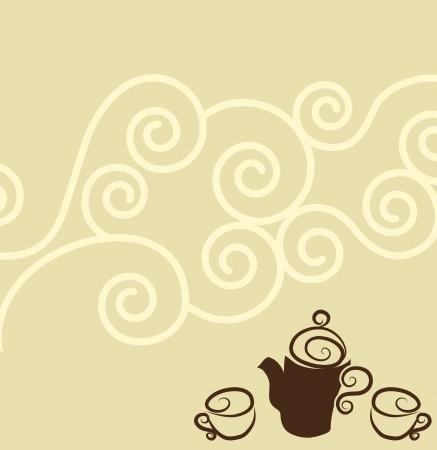 harmonic: Coffee wallpaper design  Harmonic color combinations   Illustration