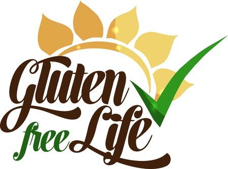 produits c�r�aliers: Gluten un message de vie sans Isol� sur un fond blanc