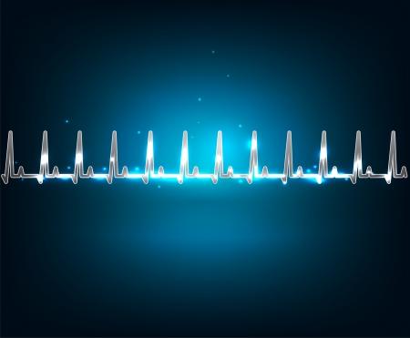 reanimation: Electrocardiogram wallpaper  Beautiful blue luminous design  Normal human heart rate cardiogram