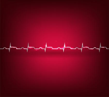 infarctus: Crise cardiaque, infarctus Illustration de la surveillance de la fr�quence cardiaque, �lectrocardiogramme Illustration