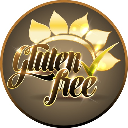 bold: Gluten free symbol Bold and bright  Illustration