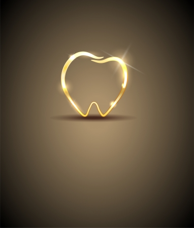 Beautiful tooth illustration  Luxury dental care  Vector