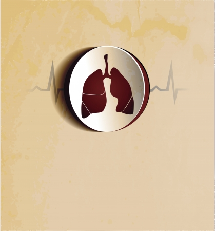 Lungs  Abstract medical wallpaper  Vintage design  Stock Vector - 22445912