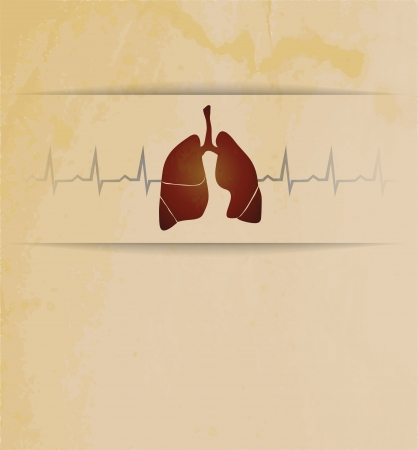 Lungs  Abstract medical wallpaper  Vintage design Stock Vector - 22445915