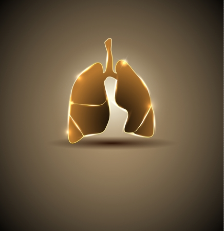 brigt: Lungs. Abstract medical wallpaper. Brigt and bold design. Illustration