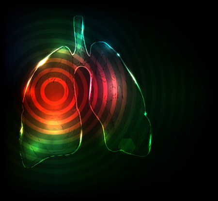 Lungs. Abstract medical wallpaper. Red and green color combinations, bright design. Stock Vector - 22445925