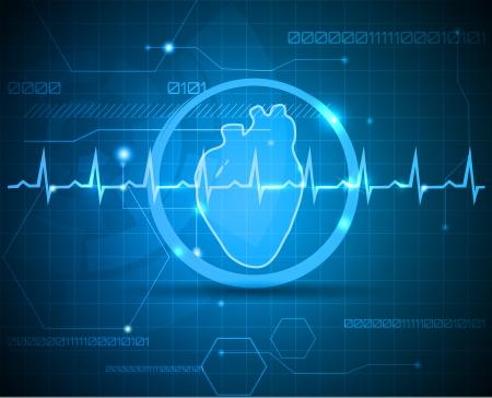 Menselijke anatomie van het hart. Abstracte medische achtergrond. Mooie heldere kleur.