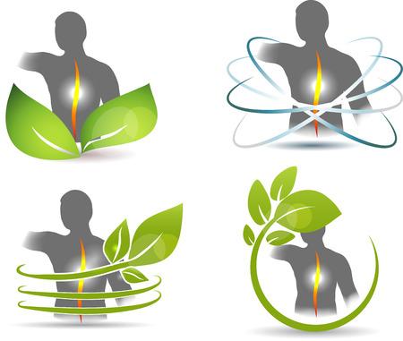 infarctus: La colonne vert�brale humaine, de la conception des soins de sant� de la colonne vert�brale Illustration