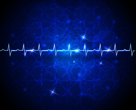 Cardiogram abstract wallpaper  Medical  Vector