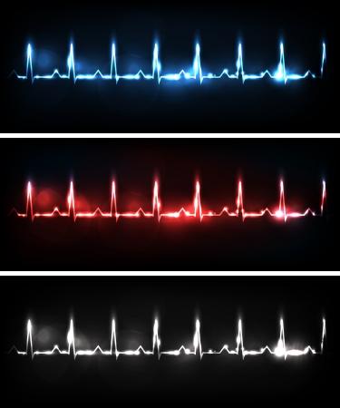 angina: Banners Cardiograma, diversos colores brillantes y diseños audaces