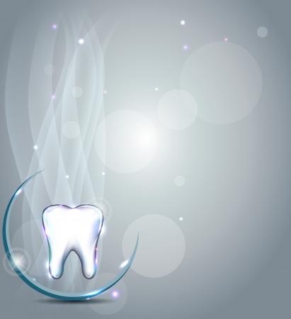 Tandheelkundige achtergrond. Mooi en helder ontwerp.
