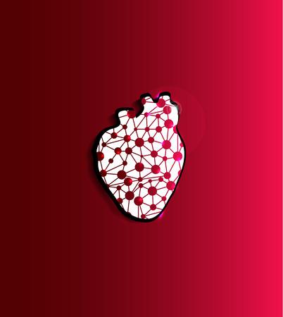 Ilustración forma abstracta del corazón, diseño científico. Foto de archivo - 23853569