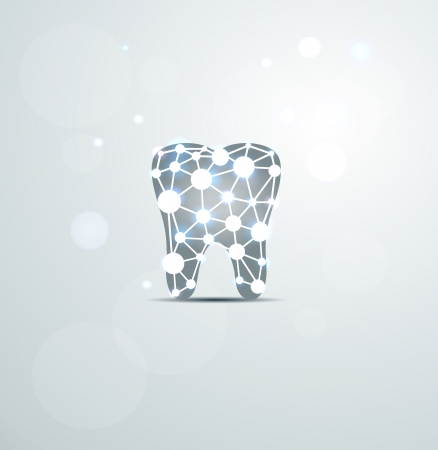 Abstract Tooth of molecules, scientific design.