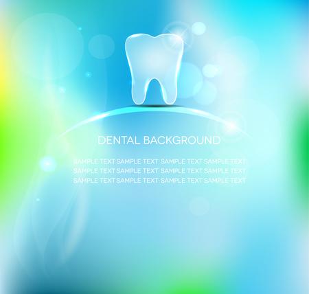 Beautiful light blue dental backgrounds. Luxury dental care. Vector