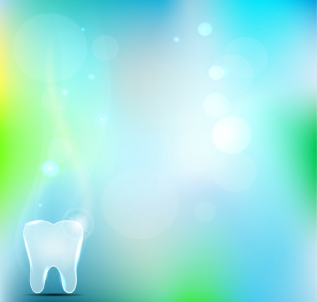 Beautiful light blue dental backgrounds. White tooth and blue mesh background. Vector