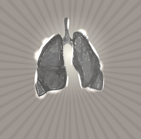 Lungs. Abstract medical illustration, background. Vector