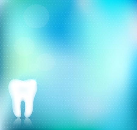 Conception saine blanc dent de fond, belle couleur bleu clair, clair et une conception précise