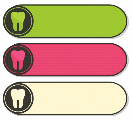 mouth cavity: Dental banners collection, beautiful colorful designs.