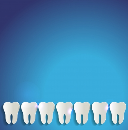 floss: White teeth of paper and blue background Illustration
