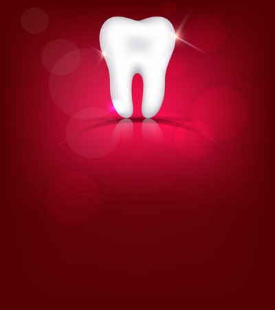 dental caries: Red tooth , bright design
