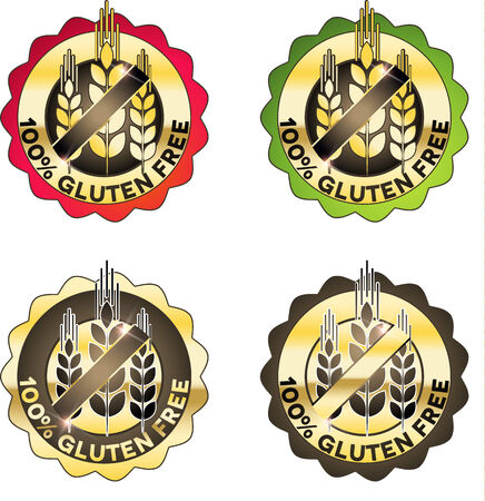 sprue: Luxury gluten free symbol collection. Various bright colors.