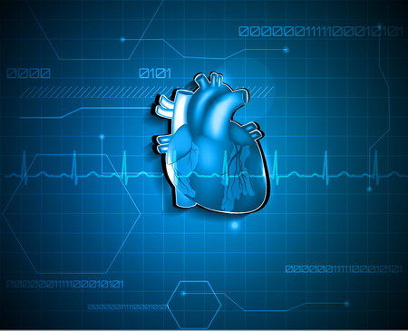 추상 cardiology 배경 의료 기술 개념