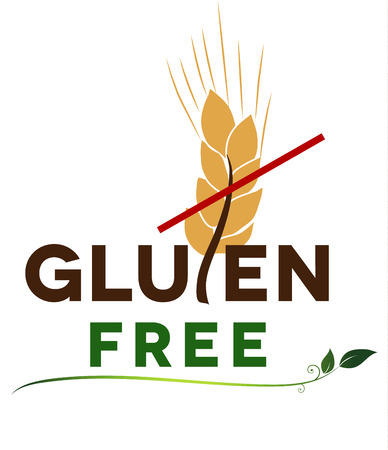 sprue: Gluten free message, artistic design  Health care diet  Illustration
