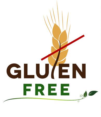 Gluten free message, artistic design  Health care diet  Vector