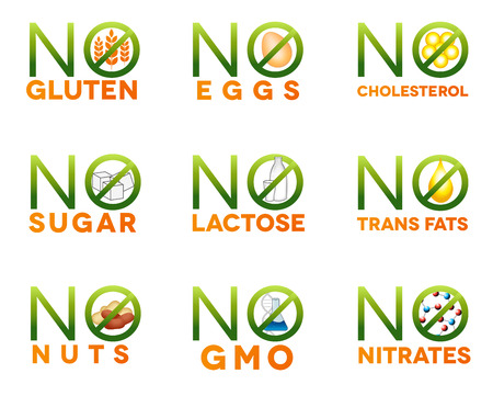 Food intolerance icons