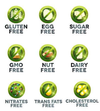 dairy: Еда диета коллекция иконок Иллюстрация